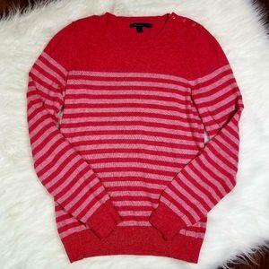 Boden Striped Button Detail Sweater